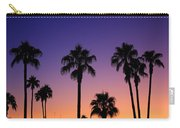 Colorful Tropical Palm Tree Sunset Carry-all Pouch