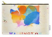 Colorful Washington State Map Carry-all Pouch