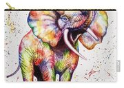 Colorful Watercolor Elephant Carry-all Pouch