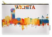 Colorful Wichita Skyline Silhouette Carry-all Pouch