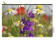 Colorful Wild Flowers Nature Scene Carry-all Pouch