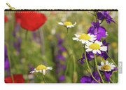 Colorful Wild Flowers Nature Spring Scene Carry-all Pouch