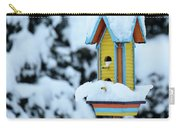 Colorful Wooden Birdhouse In The Snow Carry-all Pouch