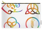 Colorful Zoso Symbols Carry-all Pouch