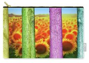 Colorfull Tree Trunks In Thefield. Abstract Psychedelic Colors Carry-all Pouch