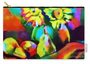 Colors, Pears And Flowers Carry-all Pouch