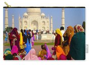 Colorful Saris At Taj Mahal Carry-all Pouch