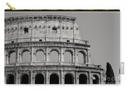 Colosseum Or Coliseum Black And White Carry-all Pouch