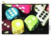 Colourful Casino Dice  Carry-all Pouch