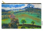 Colourful English Devon Landscape - Early Evening In The Valley Carry-all Pouch