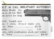Colt .45 Automatic Pistol Carry-all Pouch