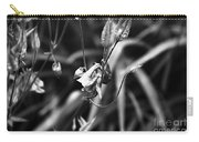 Columbine Flower 2 Black And White Carry-all Pouch