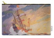 Columbus Crossing The Atlantic Carry-all Pouch by Newell Convers Wyeth