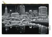 Columbus Ohio Black And White Carry-all Pouch