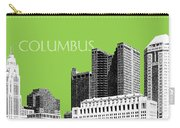 Columbus Ohio Skyline - Olive Carry-all Pouch