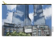 Columbus Square New York City Handmade Sketch Carry-all Pouch