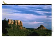 Colurt House Butte And Bell Rock Carry-all Pouch