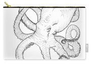 Come Let Me Give You A Hug Octopus Drawing Carry-all Pouch