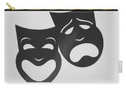 Comedy N Tragedy B W Carry-all Pouch