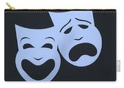 Comedy N Tragedy Cyan Blue Carry-all Pouch