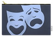 Comedy N Tragedy Cyan Carry-all Pouch