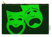 Comedy N Tragedy Green Carry-all Pouch