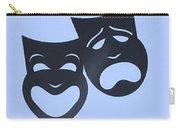 Comedy N Tragedy Neg Cyan Carry-all Pouch