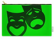 Comedy N Tragedy Neg Green Carry-all Pouch
