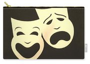Comedy N Tragedy Neg Sepia 1 Carry-all Pouch