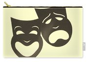 Comedy N Tragedy Neg Sepia Carry-all Pouch