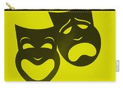 Comedy N Tragedy Neg Yellow Carry-all Pouch