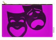Comedy N Tragedy Purple Carry-all Pouch