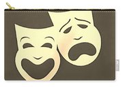 Comedy N Tragedy Sepia Carry-all Pouch