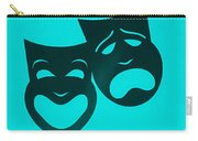 Comedy N Tragedy Turquoise Carry-all Pouch