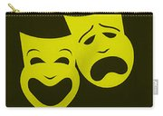 Comedy N Tragedy Yellow Carry-all Pouch