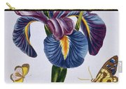Common Iris With Butterflies Carry-all Pouch