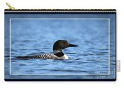 Common Loon, Framed Carry-all Pouch