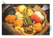 Composition Of Various Gourds In A Basket With Vignetting Carry-all Pouch