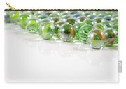 Composition With Green Marbles On White Background Carry-all Pouch