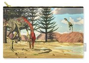 Compsognathus Dinosaur Attempts To Eat Carry-all Pouch