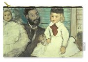 Comte Le Pic And His Sons Carry-all Pouch by Edgar Degas