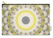 Concrete And Yellow Mandala- Abstract Art By Linda Woods Carry-all Pouch