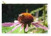 Cone Flower And Honey Bee Carry-all Pouch