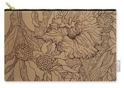 Cone Flowers And Daylily Carry-all Pouch