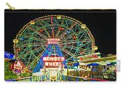 Coney Island's Wonderous Wonder Wheel In Neon Carry-all Pouch