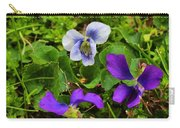 Confederate And Purple-blue Violets Carry-all Pouch