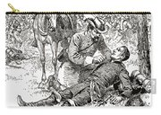 Confederate General John Brown Gordon Assists Wounded Union General Francis Channing Barlow Carry-all Pouch