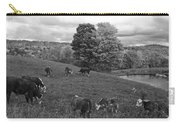 Congregating Cows. Jenne Farm Cow Reading Vermont Black And White Carry-all Pouch