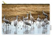 Congregating Sandhill Cranes Carry-all Pouch