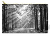 Conifer Forest In Fog Carry-all Pouch